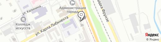 Колор на карте Прокопьевска