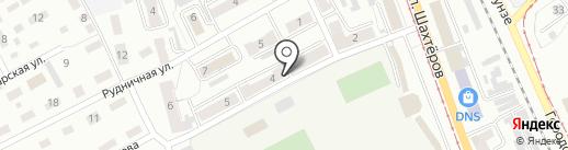 Леда на карте Прокопьевска