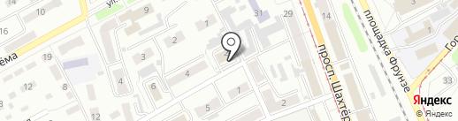 Отдел полиции Центральный, Отдел МВД России по г. Прокопьевску на карте Прокопьевска