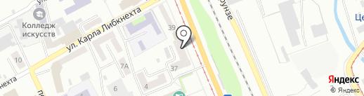 Ладушка на карте Прокопьевска