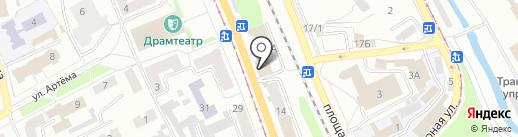 Наша столовая на карте Прокопьевска