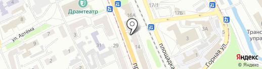 Кафе быстрого питания на карте Прокопьевска