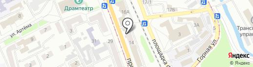 Ввид на карте Прокопьевска