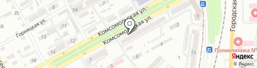 Магазин дисков на карте Прокопьевска