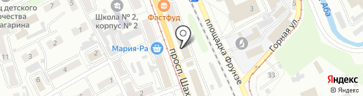 Управление пенсионного фонда РФ в г. Прокопьевске на карте Прокопьевска