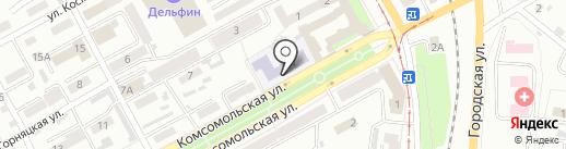 Основная общеобразовательная школа №1 им. Б.В. Волынова на карте Прокопьевска