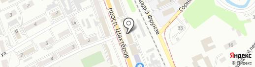 Табачная лавка на проспекте Шахтёров на карте Прокопьевска