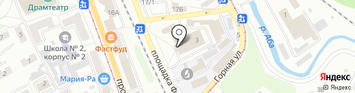 Дворец культуры им. Артема на карте Прокопьевска