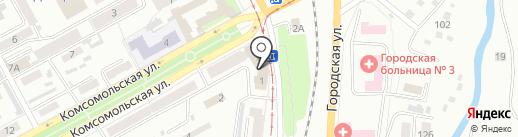 Заря на карте Прокопьевска