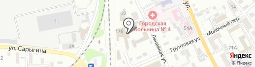 Перминов В.В. на карте Прокопьевска