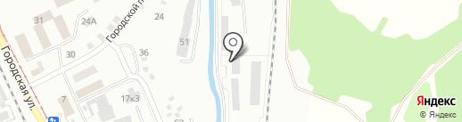 Вестком на карте Прокопьевска