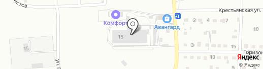 Яснополянская стройбаза на карте Прокопьевска