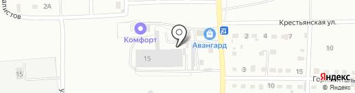 Крепь на карте Прокопьевска