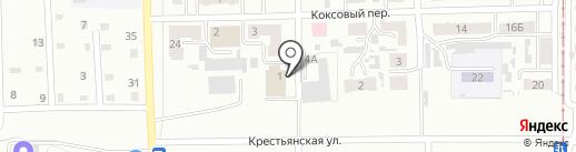 Городская баня №3 на карте Прокопьевска