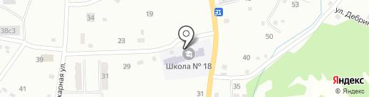 Основная общеобразовательная школа №18 с дошкольным отделением на карте Прокопьевска