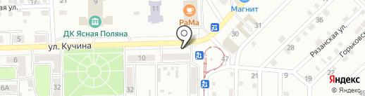 Магазин по продаже цветов на карте Прокопьевска
