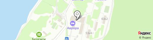 Аврора на карте Прокопьевска