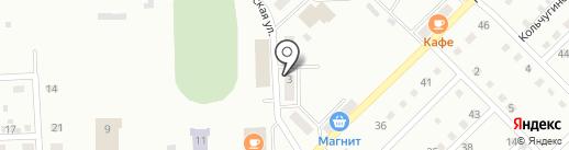 Фишка на карте Прокопьевска