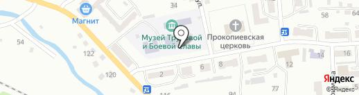Средняя общеобразовательная школа №28 на карте Прокопьевска