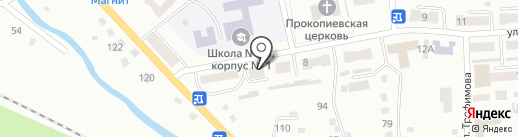 Поликлиника №3 на карте Прокопьевска