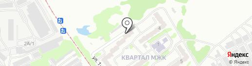 Детская поликлиника №2 на карте Прокопьевска
