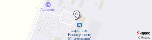 Лайнер на карте Прокопьевска
