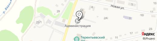 Почтовое отделение на карте Терентьевского