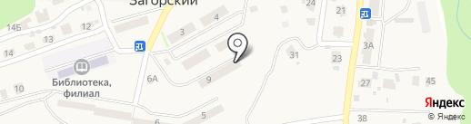Районная централизованная библиотечная система Новокузнецкого муниципального района, МБУК на карте Загорского