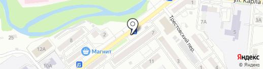 Киоск по продаже цветов на карте Новокузнецка