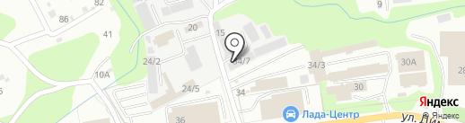 Пункт технического осмотра на карте Новокузнецка