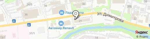 Колористика на карте Новокузнецка