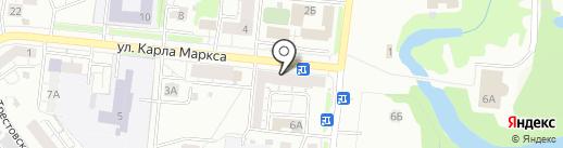 Акварель на карте Новокузнецка