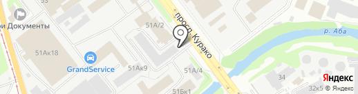 Узбечка на карте Новокузнецка