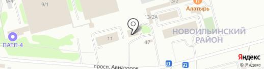 Фаст на карте Новокузнецка