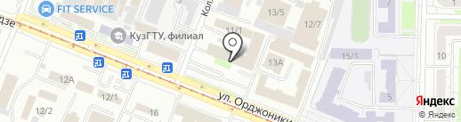 Земля на карте Новокузнецка