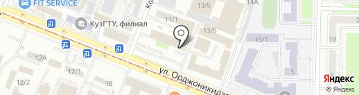 Садовые машины на карте Новокузнецка