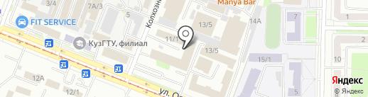 Кузнецкий на карте Новокузнецка