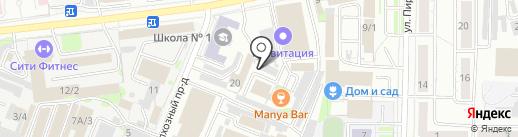 Домино-мебель на карте Новокузнецка