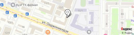 Галеон на карте Новокузнецка