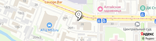 АБ на карте Новокузнецка