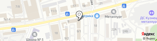 Бизнес-центр на Пирогова на карте Новокузнецка
