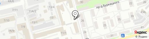 Акулов К.А. на карте Новокузнецка