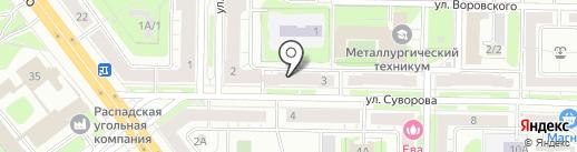 Микробус42 на карте Новокузнецка
