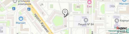 Альфа-Клининг на карте Новокузнецка