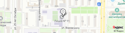 Лицейские ястребы на карте Новокузнецка