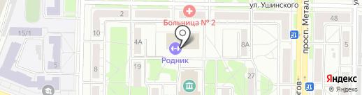 Юниор на карте Новокузнецка