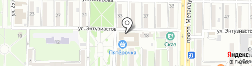 Чемпионика на карте Новокузнецка