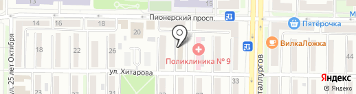 Авестро на карте Новокузнецка