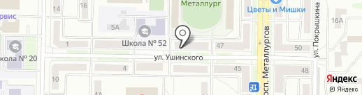Варниаль на карте Новокузнецка