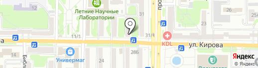 Лагуна на карте Новокузнецка